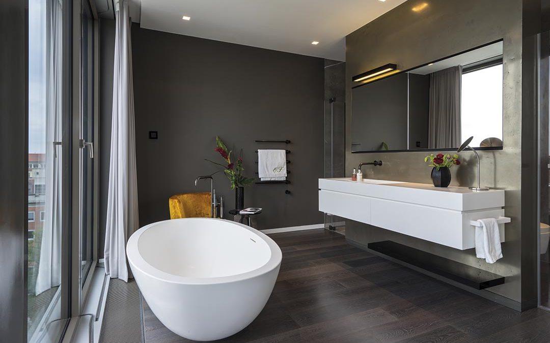 Minimalistische Badgestaltung
