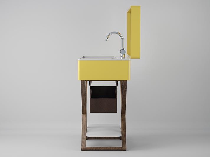 Waschbecken-System, das bei Bedarf geschlossen werden kann, My Bag | Olympia